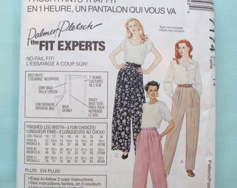 McCalls 7174 - 1 Hour Pants Pattern - Pants Sewing Pattern - How to Fit a Pattern - Palmer/Pletsch Fit Tips