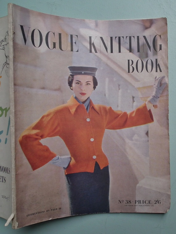 Vintage Vogue Knitting Pattern Books : Vogue Knitting Book No. 38 1951 Vintage by sewmuchfrippery