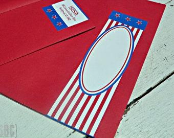 Presidential/Patriotic Address Wraps...Set of 10 Wraps