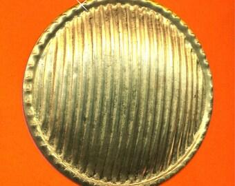 Vintage RARE Huge Art Deco Corrugated Shield 57.73mm  Findings N7R 8