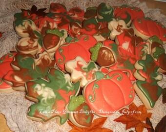 Fall Cookies - Autumn Cookies - 24 Cookies