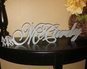 Personalized Wedding Table Sign