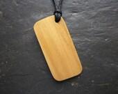 """Natural Wood Pendant - Elder/Ruis - Ogham """"Secret Sigil"""" Design."""