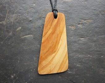 Unique Natural Wood Pendant - Sycamore - for Success.