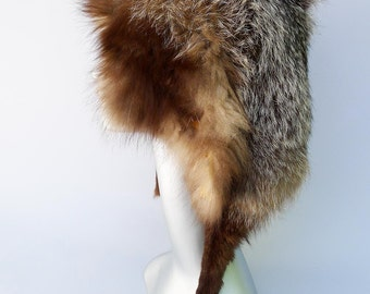 Brown Fox Fur Pelt for Hats and Clothing