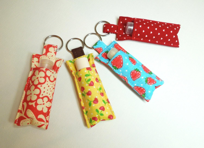 Lip Balm Key chain Chapstick Holder chap stick cozy