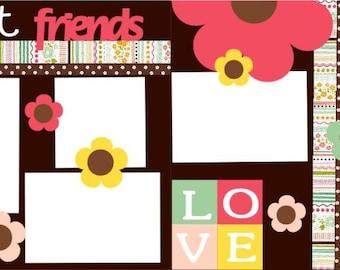 Best Friends 2-page 12x12 do-it-yourself scrapbook kit