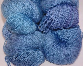 Studio June Yarn Silky Blue Lace (Silk/BFL) - Blue Tango