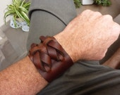 Double Cuff in Dark Brown by Muse 2 inches