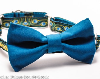 Add a Solid Coordinating Bow Tie to any Collar
