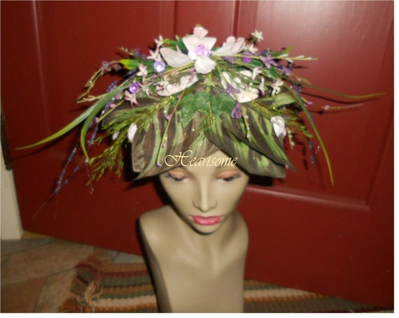 Reserved for KATHY Flower fairy Tinkerbell forest cap