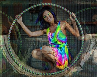 Rainbow Silk Flow Dress