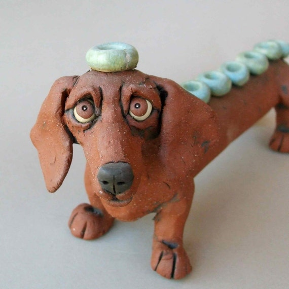 Salamander In Ceramic Clay Have A Handmade Tea Party