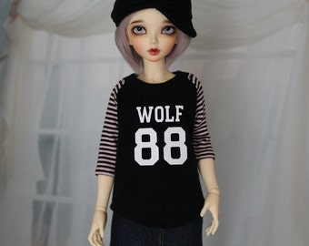 Custom Minifee Shirt, You Pick Name and Number MNF Baseball Jersey, 1/4 Size Doll Clothes