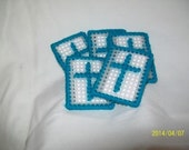 Cross in my Pocket, Set of 5 in Dark Teal