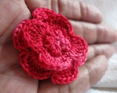 Clutch Back Flower Pin, 1&1/2 inch Variegated Carnation Boutonniere