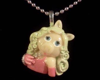 Miss Piggy necklace