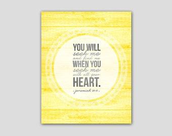 Bible Verse Printable - Jeremiah 29:13