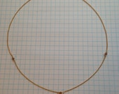 14K gold filled wire wrapped bead necklace