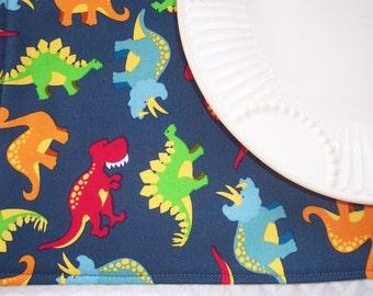Kids Single Placemat, Boy's Dinosaurs, Lunchbox Placemat, Fabric Placemat, Cloth Placemat, Boy Placemat, Reversible Placemat, Dino Placemat