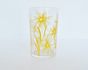 "Yellow Cornflower Swanky Swig 3-1/2"" Glass"