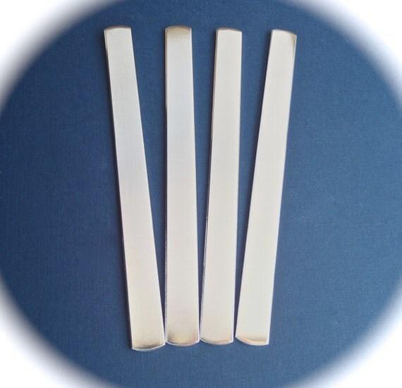 100 Polished 1/2 x 6 Inch 14 Gauge Heavy Weight Food Safe Aluminum Bracelet Blank Cuffs - 100 Cuffs - Flat