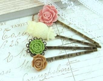 Victorian Bobby Pins Owl Hair Pin Flower Bobby Pins Flower Hair Accessories Hair Pin Set Flower Hair Pins