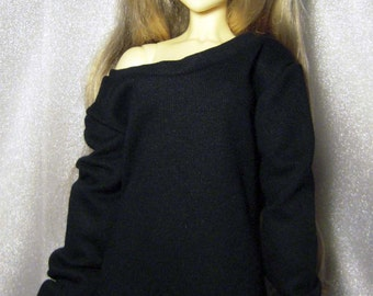 Black baggy sweatshirt for SD , 1/3 bjd dolls