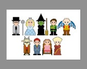 Wicked Musical Pixel People Character Cross Stitch PDF PATTERN ONLY