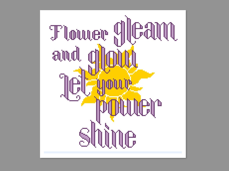 flower gleam and glow