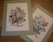 Vintage Floral Prints - Set of Two - Mated