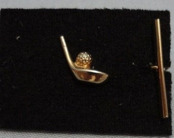 Reduced Vintage Gold Golfers Tie Pin