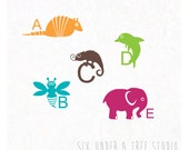 Animal ABC Wall Vinyl Decals Art Graphics Stickers