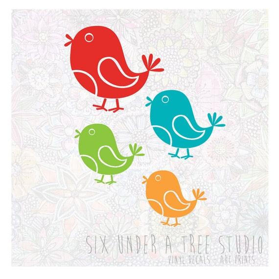 Little Birds Vol 3 Wall Vinyl Decals Art Graphics Stickers