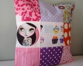 Blythe Doll Patchwork Cushion / Pillow cover