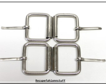 "4 Vintage Silver metal buckle,1.5"" long X 1 5/8"" wide,metal buckle, perfect for your messenger bags, belts, and other crafting needs"