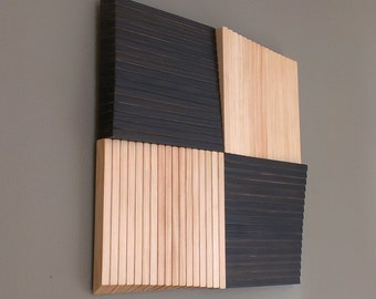 Square Pinwheel 3D Wood Wall Art