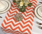 Orange Chevron Table Runner Wedding Table Runner