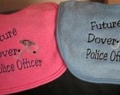 Embroidered Baby Bib- Future Police Officer- Boy or Girl