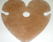 Wood (Over the Wine Bottle) Tray/Rack Heart Holder for 2 Glasses-Ready to Paint Made in USA