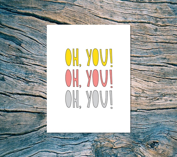 Oh You! - A2 folded note card & envelope - SKU 196