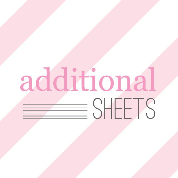 Additional Sheets of Stickies