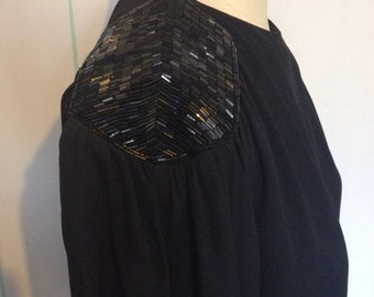Black Sequin Albert Nipon Vintage Dress