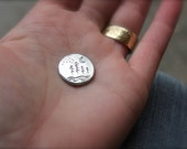 golf ball marker i love you pocket token . moon good luck charm coin . valentine stocking stuffer gift for him her teen child ready to ship