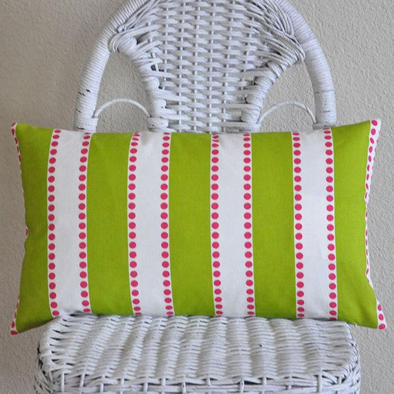 https://www.etsy.com/listing/179048748/green-white-pink-stripe-lumbar-pillow