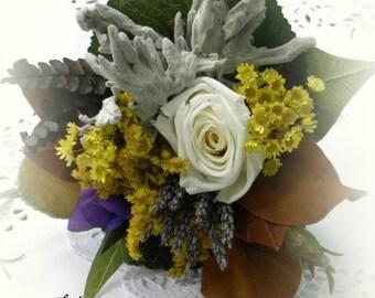 Hopeful  & Best Wishes Dried Flower Tussie Mussie Bouquet