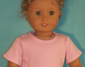 18 Inch Doll Short Sleeved Pink Tee Shirt