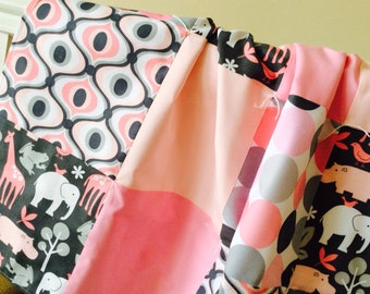 Last One -- Pink Zoology Baby Girl Blanket