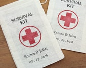 "Wedding Favor Bags - Set of 100 - 3.25"" x 5"" Survival Kit Favor Bags-  Funny Wedding Favors. Gag Gifts for guests"