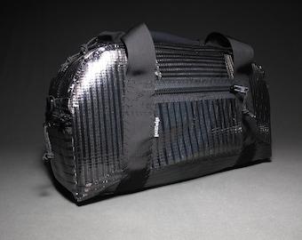 Mens Carbon Fiber Duffle Bag: The Armadillo - Black - 22L